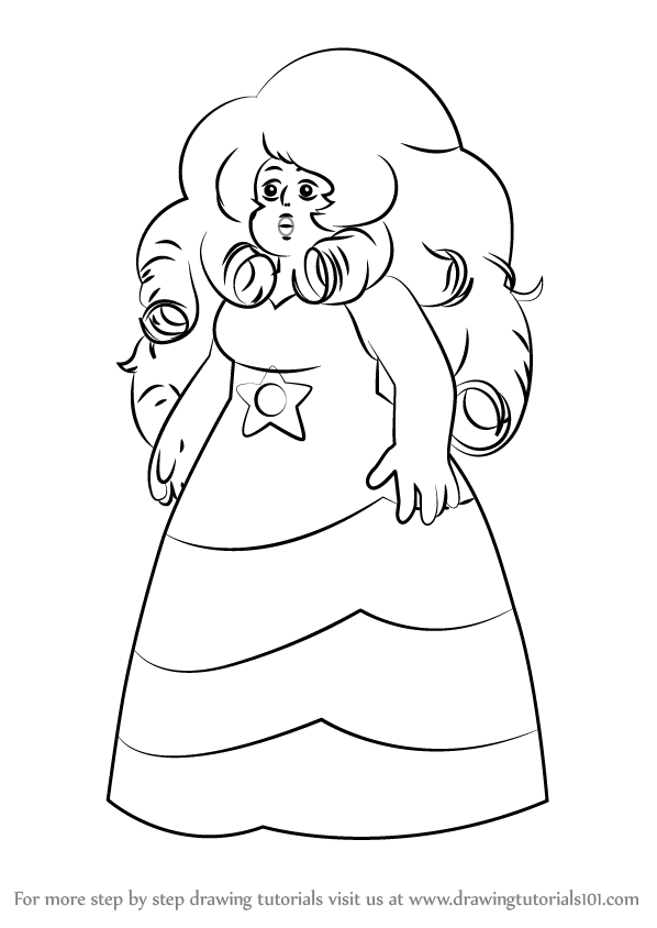 598x844 Learn How To Draw Rose Quartz From Steven Universe (Steven