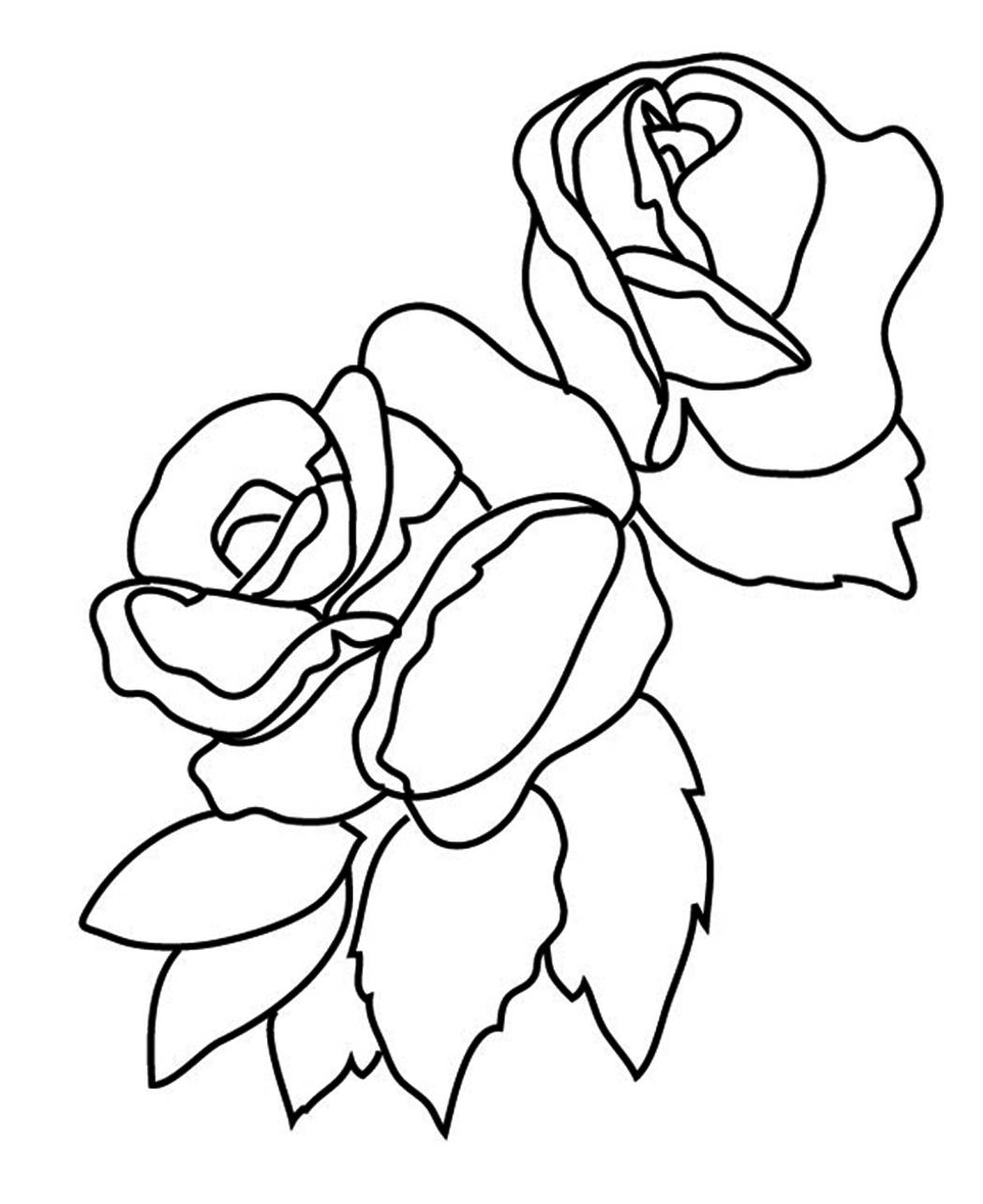 1049x1285 Coloring Pages For Girls Rose Easy Printable To Fancy Draw Print