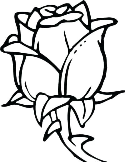 400x520 Coloring Pages Of Rose Easy Coloring Pages For Kids Rose Coloring
