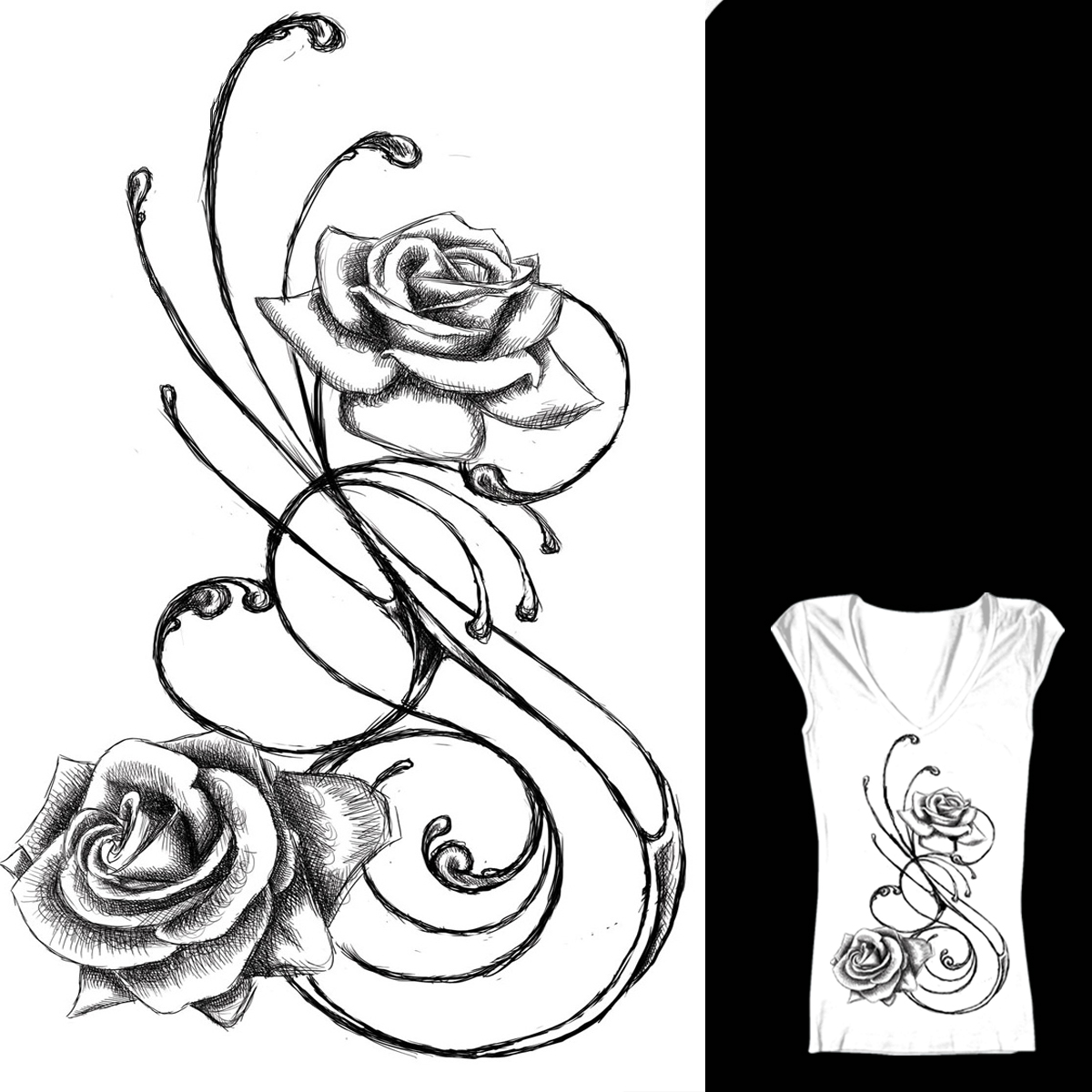 1200x1200 Hoontoidly Rose Love Drawing Images