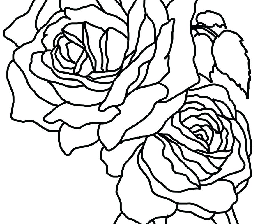 948x768 Roses Coloring Pages Rose Coloring Pages For Kids Beautiful Roses