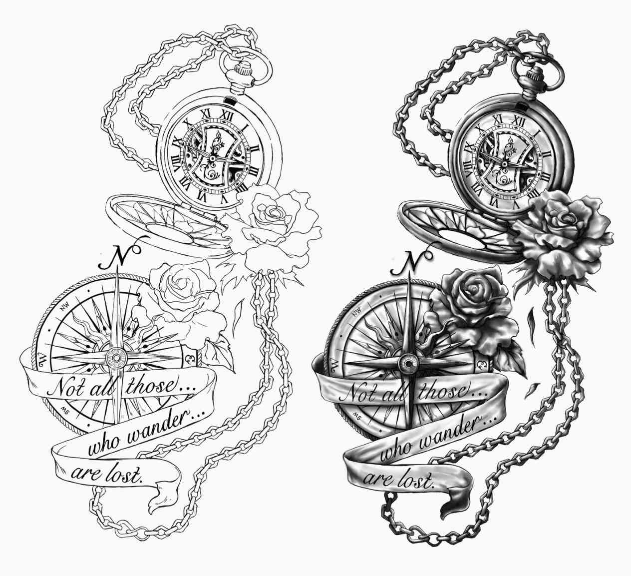 1264x1153 Designs With Banners Sickle Roses Banner Tattoo Sketch By Ranz