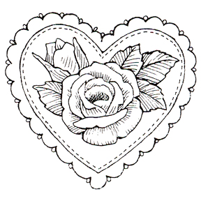 Roses With Hearts Drawing