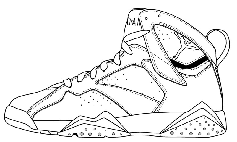 802x480 Michael Jordan Coloring Pages How To Draw Air Jordan Bordeaux