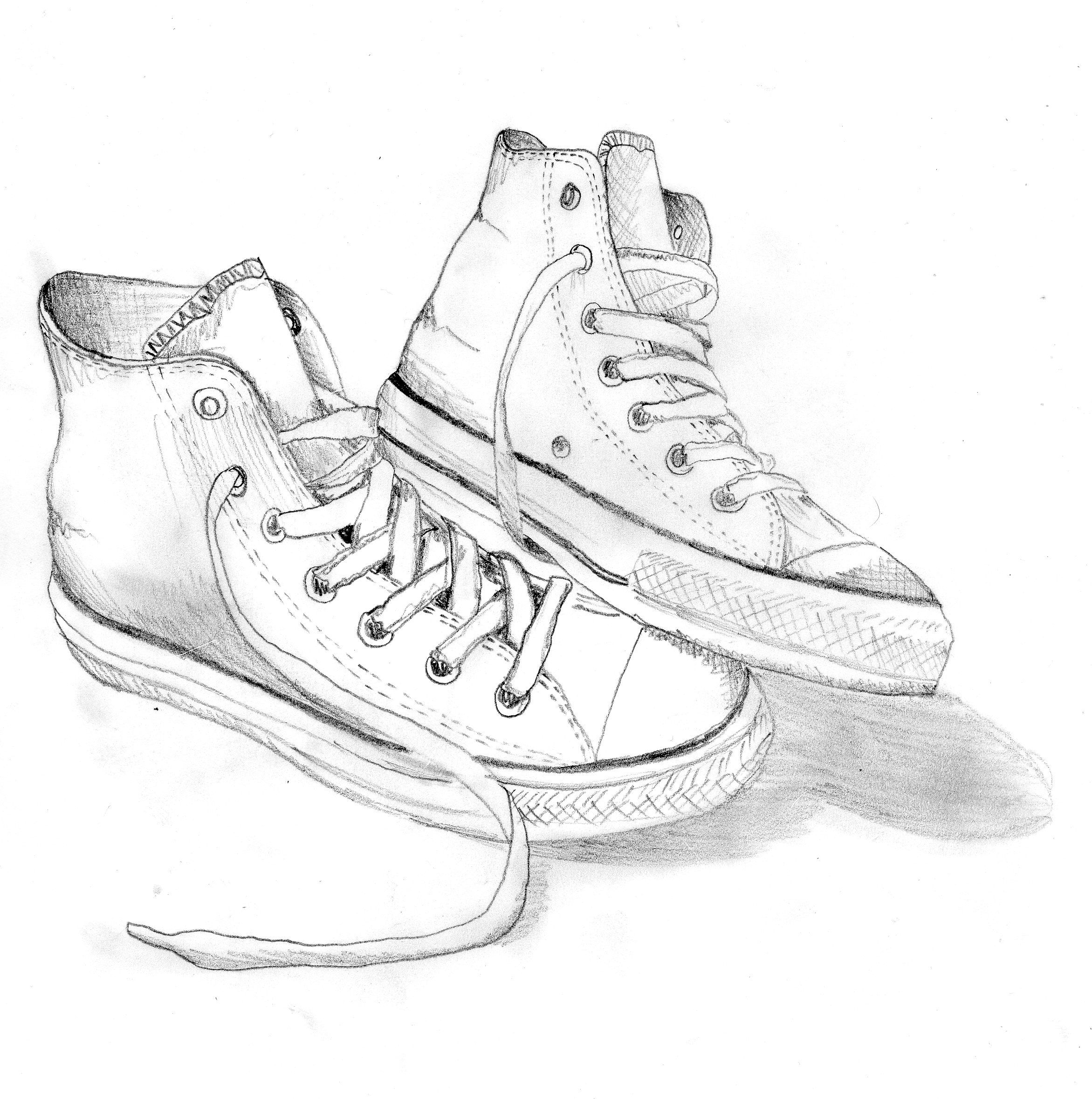 2343x2357 Converse By Charlotte Walker Sketch Converse
