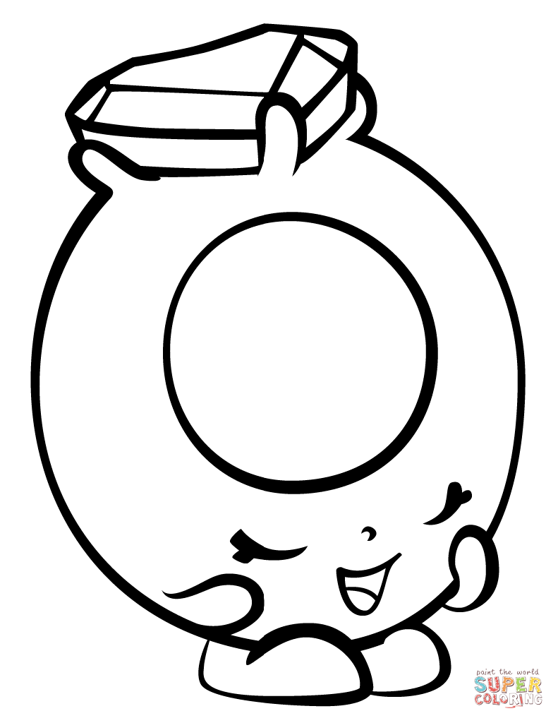 791x1024 Ring A Rosie With Hearts Shopkin Coloring Page Free Printable