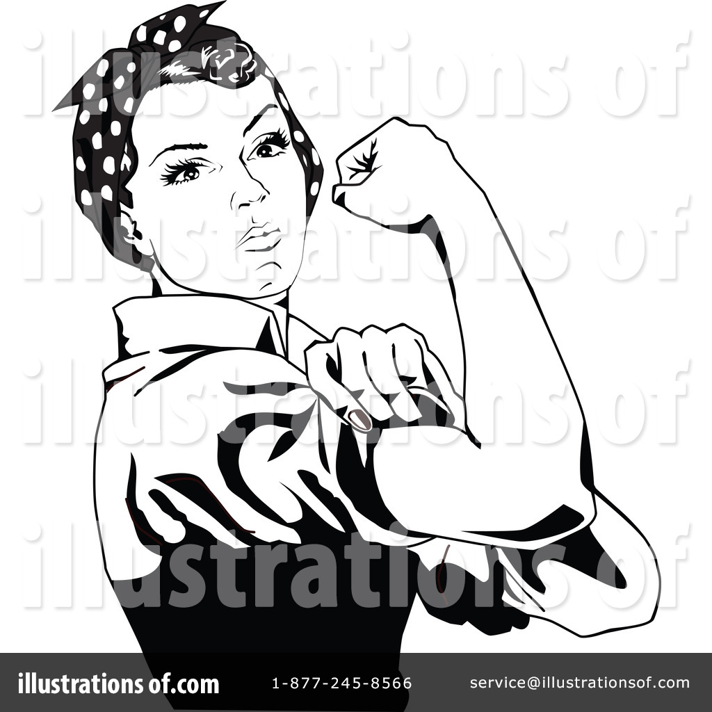 1024x1024 Rosie The Riveter Clipart