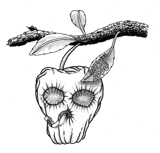Rotten Apple Drawing