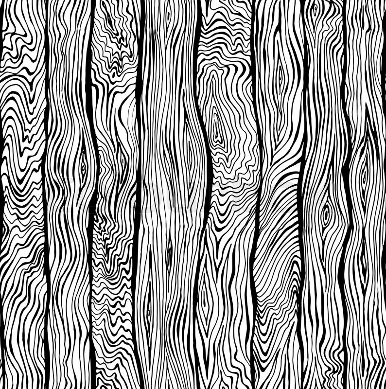 794x800 Hand Drawn Seamless Pattern Of Wood Texture Stock Vector Colourbox