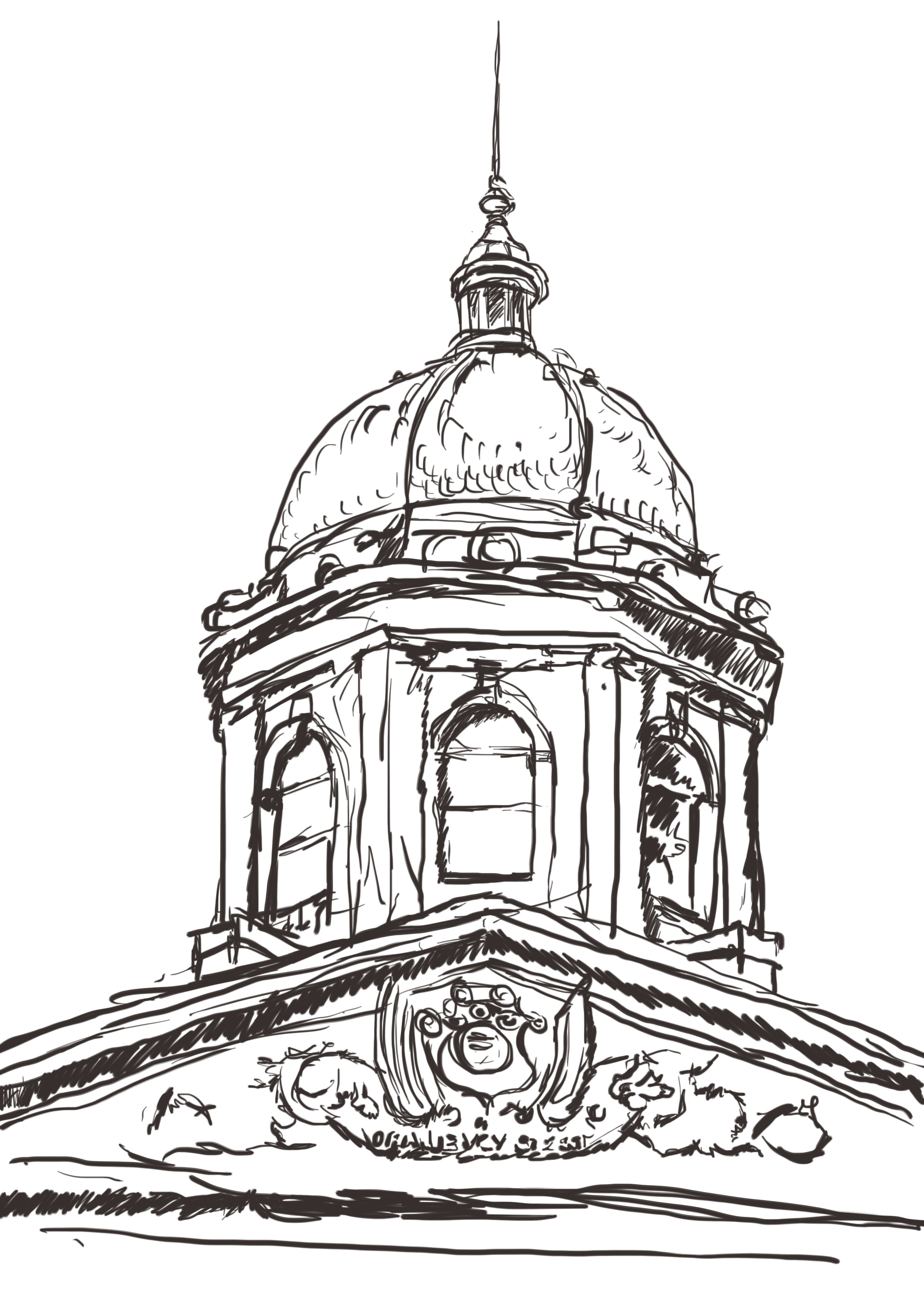 2480x3508 A Very Rough Sketch Of The 4th Raadsaal