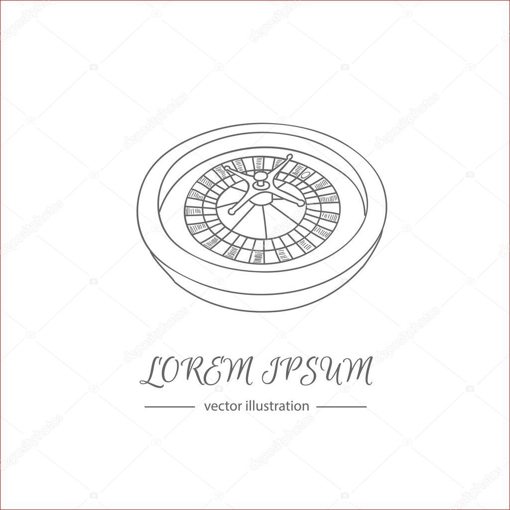 1024x1024 Casino Roulette Wheel Stock Vector Natasha Pankina
