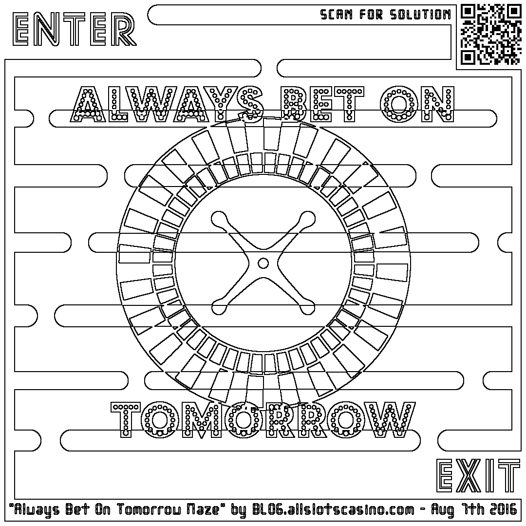 1080x1080 Coloring Maze With Roulette Wheel And Some Nonsense About Betting