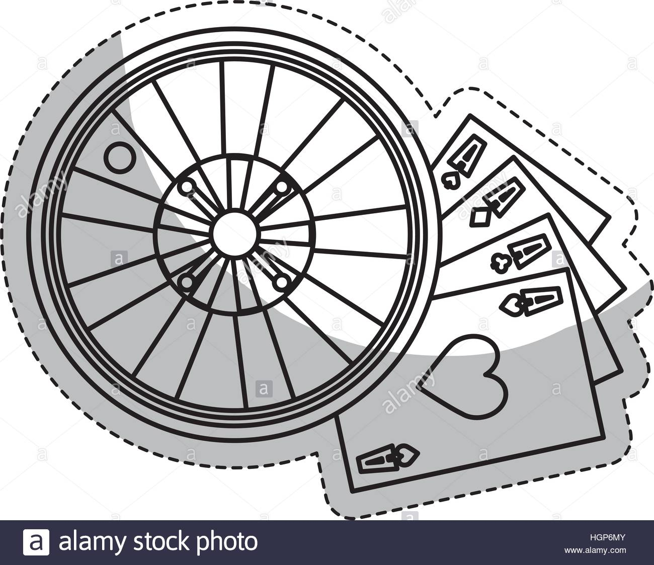 1300x1123 Casino Roulette Wheel And Poker Cards Over White Background Stock