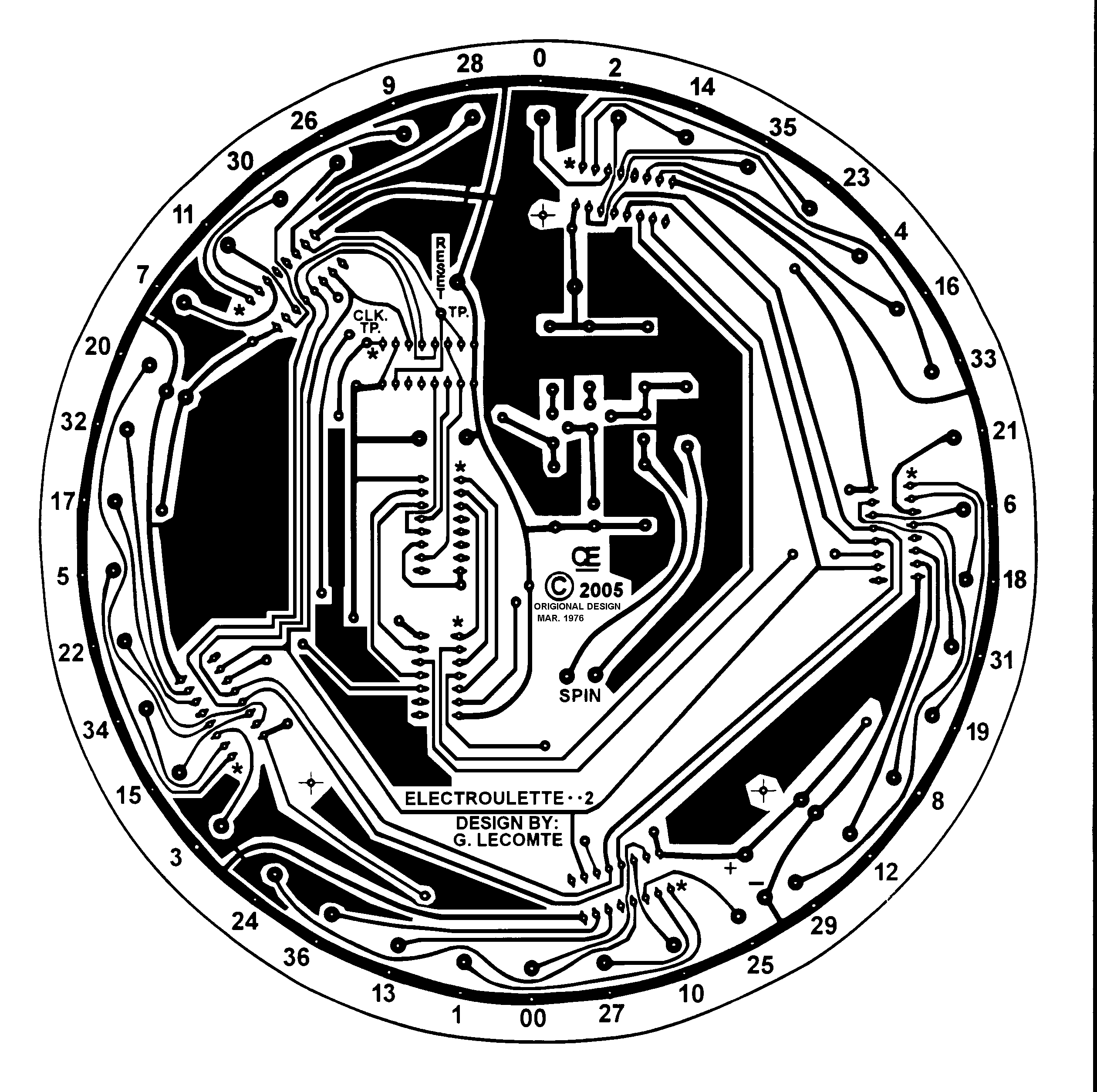 2519x2508 Roulette Wheel Drawing