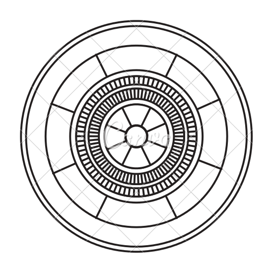 550x550 Casino Roulette Wheel Game Image Outline