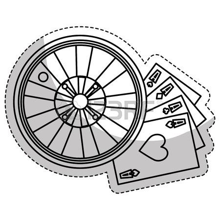 450x450 Casino Roulette Wheel Over White Background. Gambling Games Design