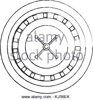 300x320 Casino Roulette Wheel With A Ball. Isolated Black, 3d Rendering