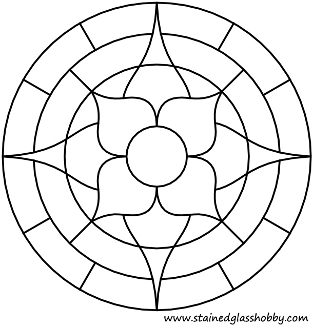 610x640 Flower Round Panel Outline Printables Outlines