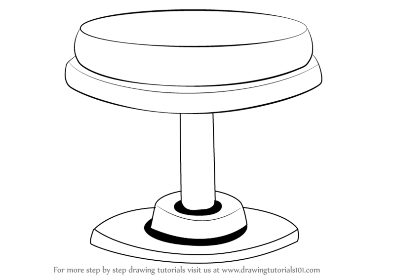 800x565 Learn How To Draw A Round Stool (Furniture) Step By Step Drawing