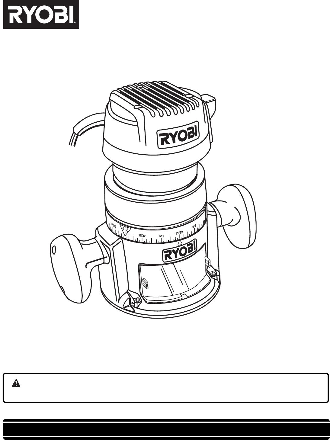 1093x1457 Ryobi Router R181fb1 User Guide