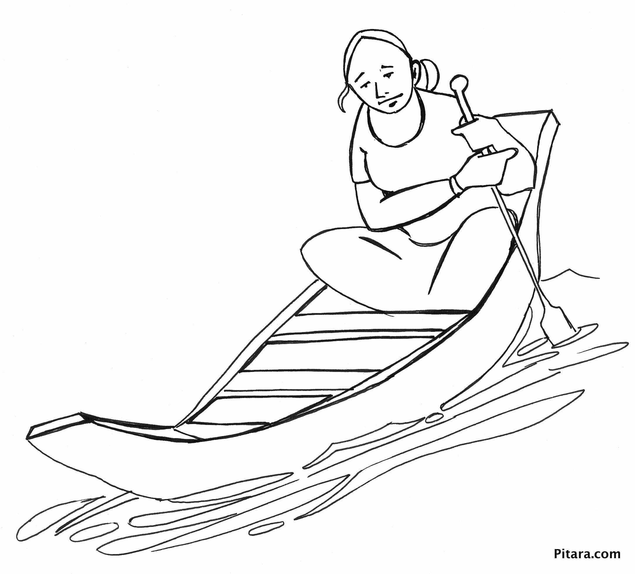 Row Boat Drawing at GetDrawings.com | Free for personal use Row Boat ...