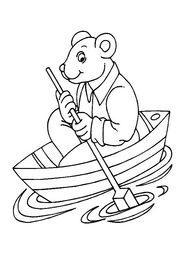 row row row your boat coloring page - row boat drawing at free for personal