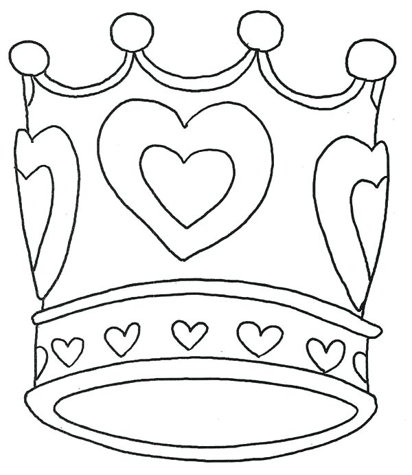 600x691 Crown Coloring Pages Tiara Coloring Pages Royal Crown Crown