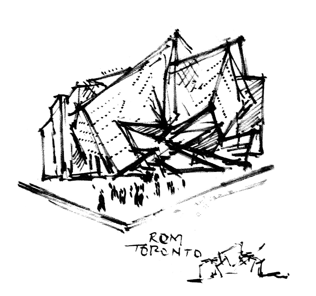 1280x1198 Royal Ontario Museum Napkin Sketch Architecture Design Process