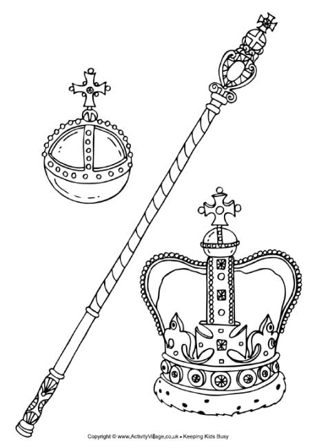 460x650 Royal Regalia Or Crown Jewels Colouring Page