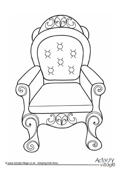 460x653 Throne Colouring Page 2 Queens Birthday