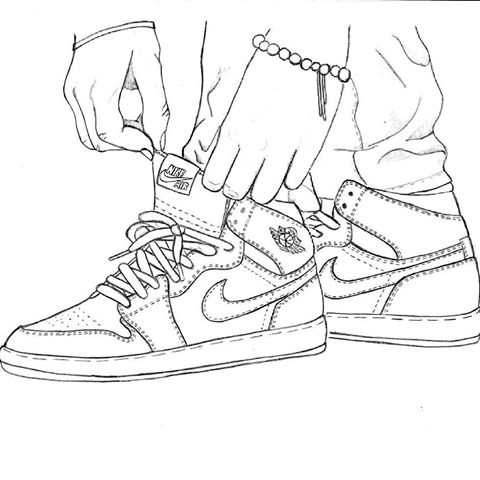 480x480 Jordan 1 Royal Drawing