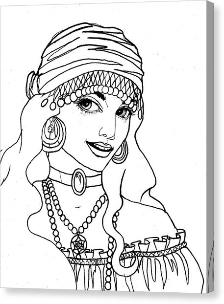 457x622 Gypsy Sketch Drawing By Scarlett Royal
