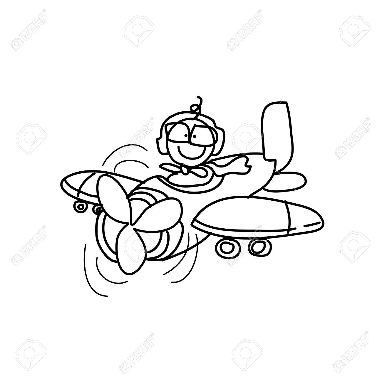 1300x1300 Cartoon Plane Drawing Cartoon Hand Drawing Imagination