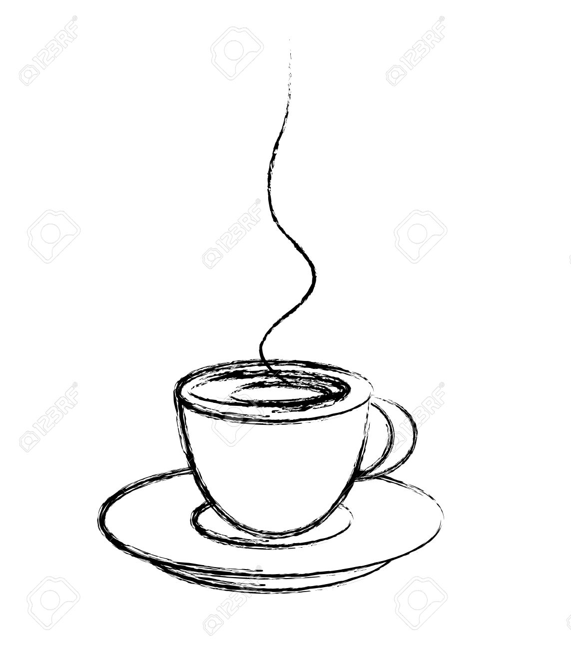 1143x1300 Cup Of Coffee Drawing Stylized Cup Of Coffee, Drawing Style