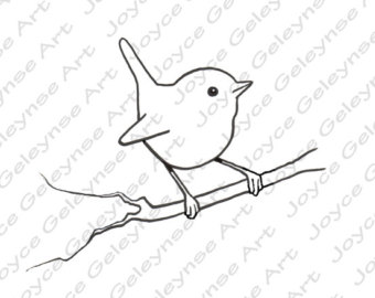 340x270 Digital Stamp Chicken Drawing Hen Poultry Outline Art