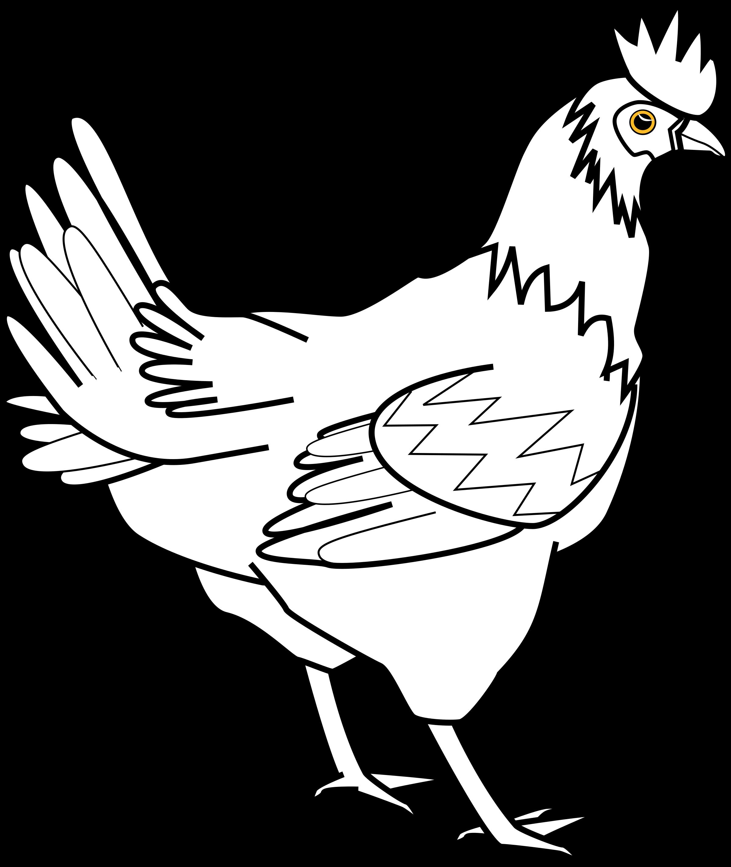 2400x2846 Chicken Line Art Davidone Chicken By Gammillian Copic Other Than