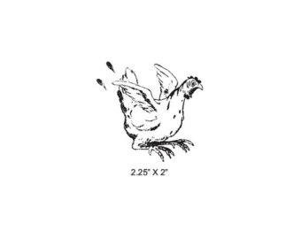 340x270 Chicken Rubber Stamp Etsy