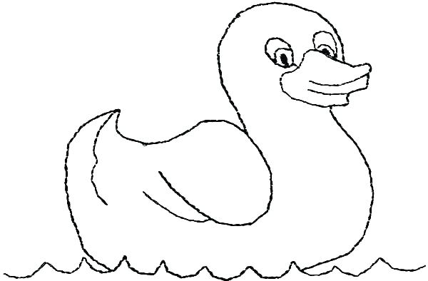 600x394 Rubber Duck Coloring Page Rubber Ducky Coloring Page Swimming