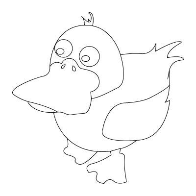 400x400 Duck Drawing To Color