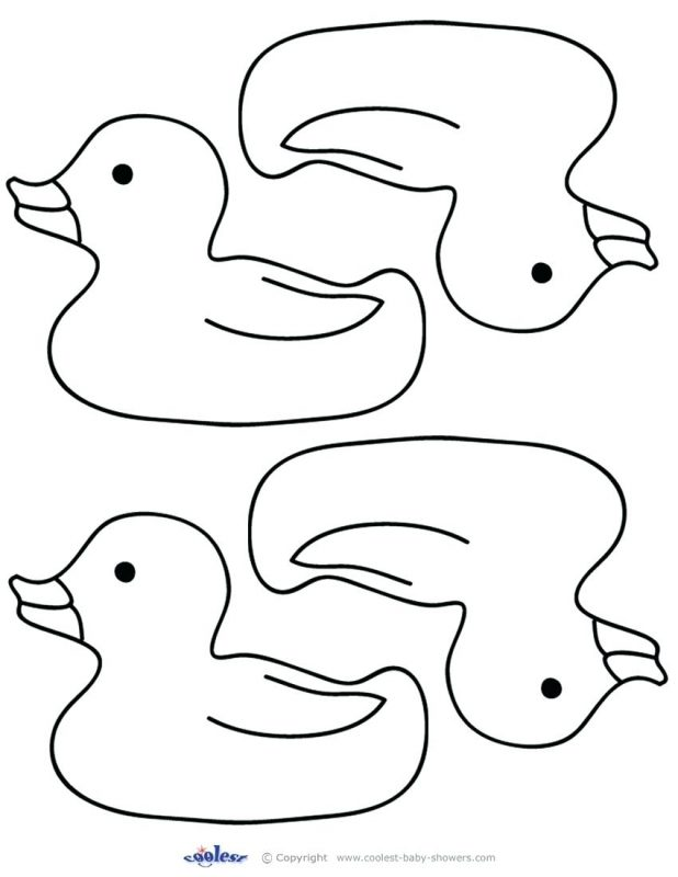 618x800 Outline Of Duck Template Rubber Duck Outline Template. Duck