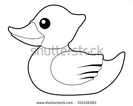 450x358 Rubber Duck Outline Group