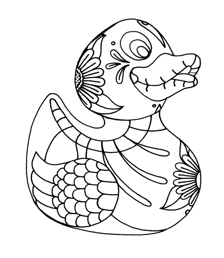 736x850 Rubber Ducky Coloring Page Duck Coloring Pages Rubber Duck