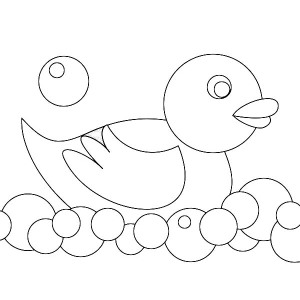 300x300 Kid Toys Rubber Ducky Coloring Page Coloring Sky