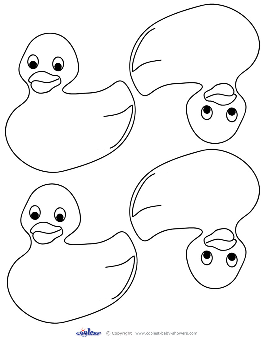 850x1100 Blank Printable Rubber Ducky 1 Thank You Cards