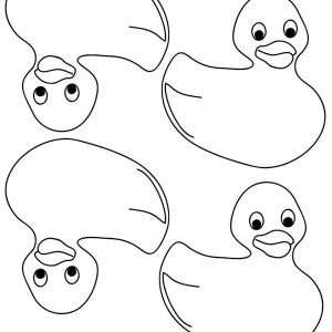 300x300 Rubber Ducky Calender Coloring Page Coloring Sky