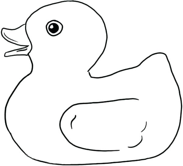 600x547 Rubber Ducky Coloring Page Rubber Duck Outline Drawing Blank