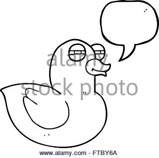 321x320 Freehand Drawn Cartoon Funny Rubber Duck Stock Vector Art
