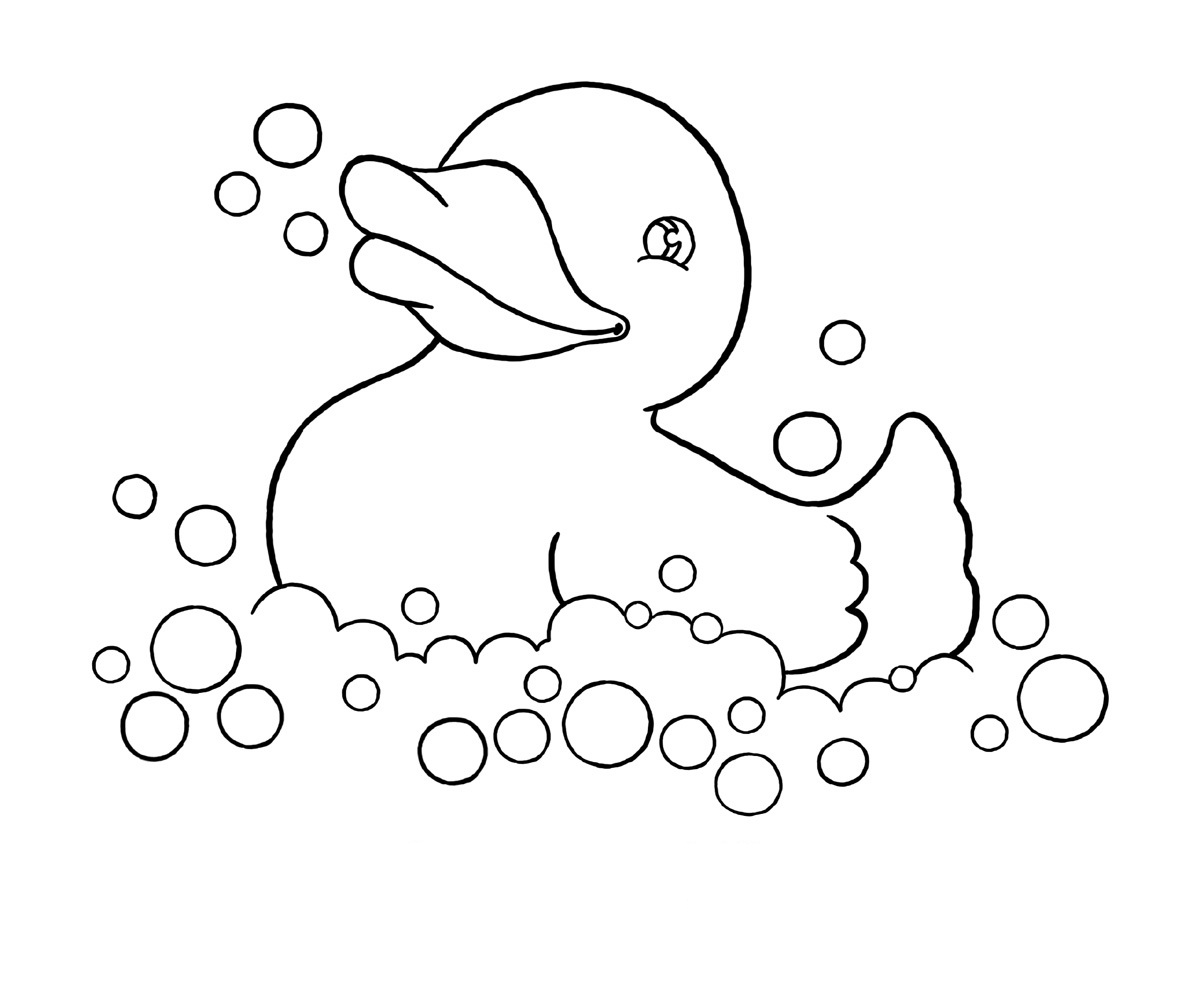 1200x982 Drawn Duck Printable