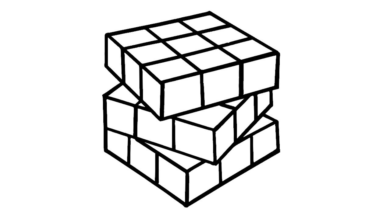 1280x720 How To Draw Rubik's Cube Coloring Pages Of Rubik's Cube Abcd