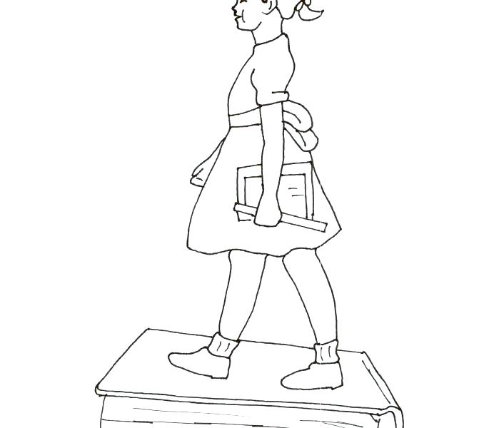 678x600 New Ruby Bridges Coloring Pages Online By Pictures Goes To School